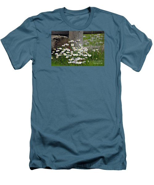 Men's T-Shirt (Slim Fit) featuring the photograph Wild Flowers  by Juls Adams