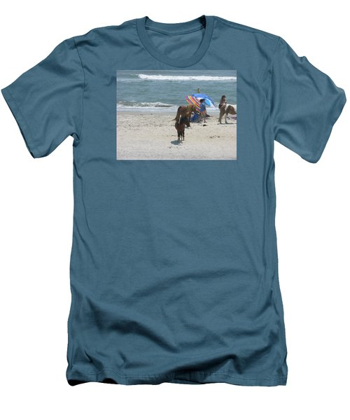Wild Horses Men's T-Shirt (Slim Fit) by Helen Haw