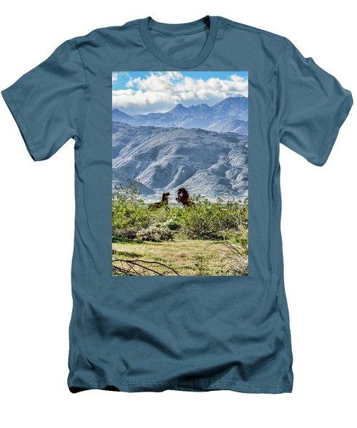 Wild Metal Mustangs Men's T-Shirt (Slim Fit)