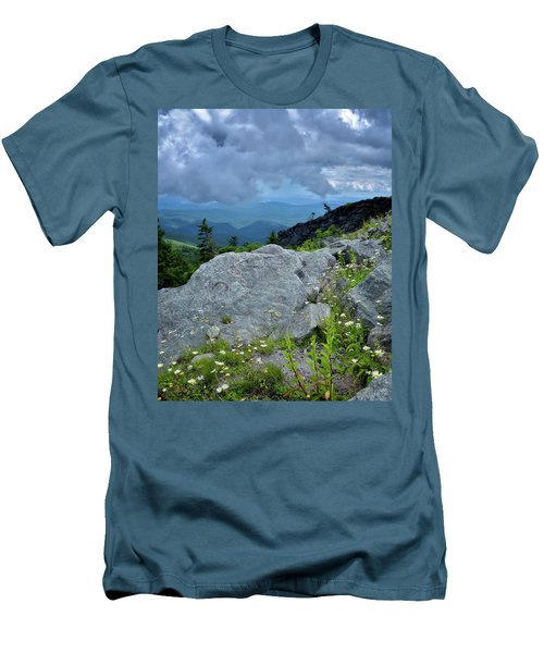 Wild Mountain Flowers Men's T-Shirt (Slim Fit) by Steve Hurt