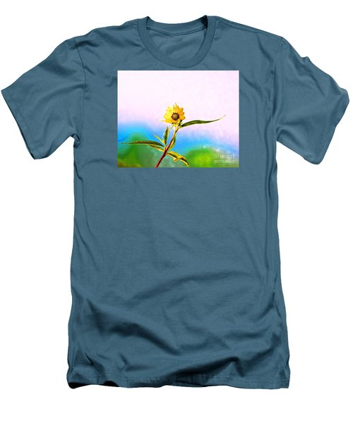 Wild Sunflower Men's T-Shirt (Slim Fit) by Lila Fisher-Wenzel