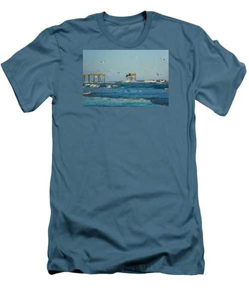 Wild Waves At Nags Head Men's T-Shirt (Athletic Fit)