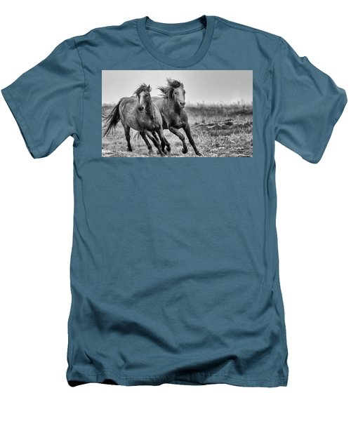 Wild West Wild Horses Men's T-Shirt (Athletic Fit)