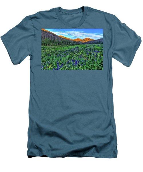 Men's T-Shirt (Slim Fit) featuring the photograph Wildflower Park by Scott Mahon