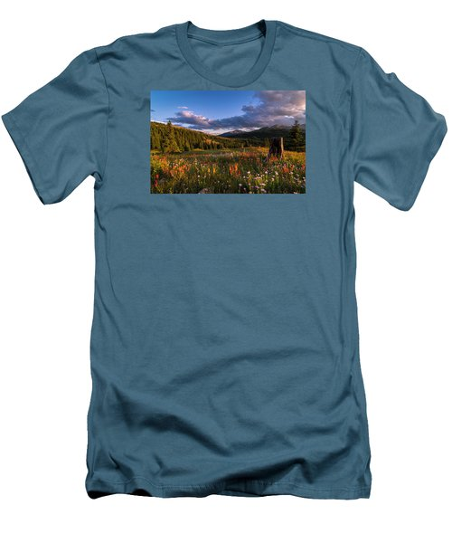 Wildflowers In The Evening Sun Men's T-Shirt (Slim Fit) by Michael J Bauer