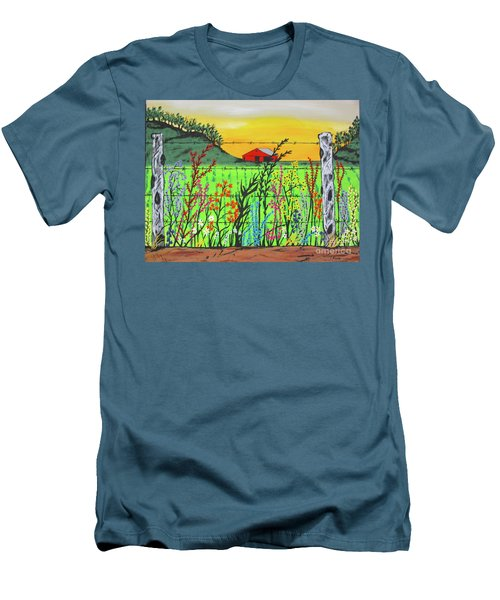 Wildflowers On The Farm Men's T-Shirt (Athletic Fit)