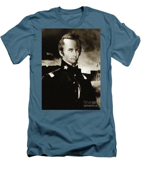 William B Travis - The Alamo Men's T-Shirt (Slim Fit) by Ian Gledhill
