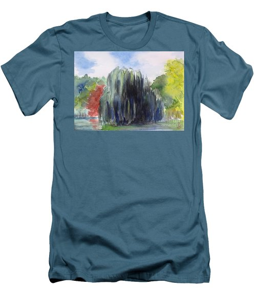 Willow Tree -2  Hidden Lake Gardens -tipton Michigan Men's T-Shirt (Athletic Fit)