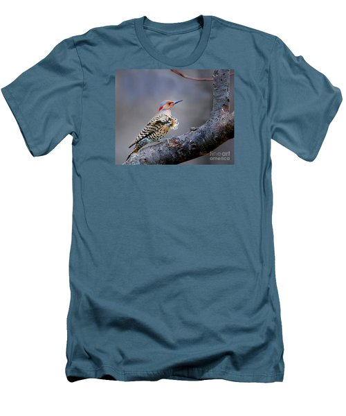 Men's T-Shirt (Slim Fit) featuring the photograph Wind Blown Flicker by Nava Thompson