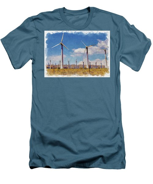 Wind Power Men's T-Shirt (Athletic Fit)