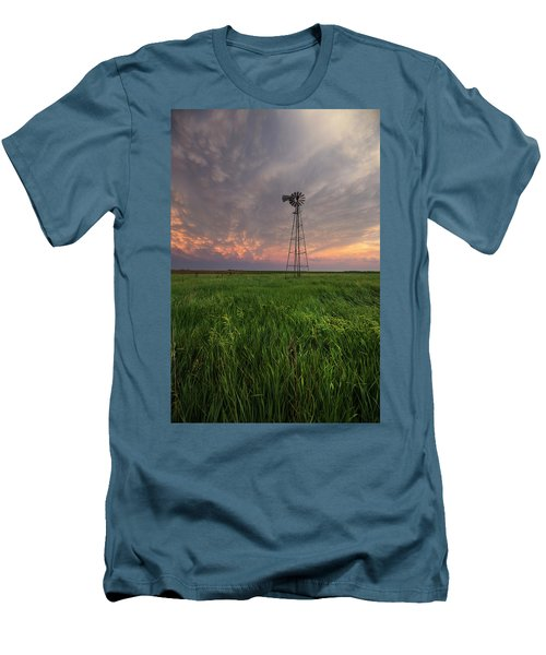 Men's T-Shirt (Athletic Fit) featuring the photograph Windmill Mammatus by Aaron J Groen