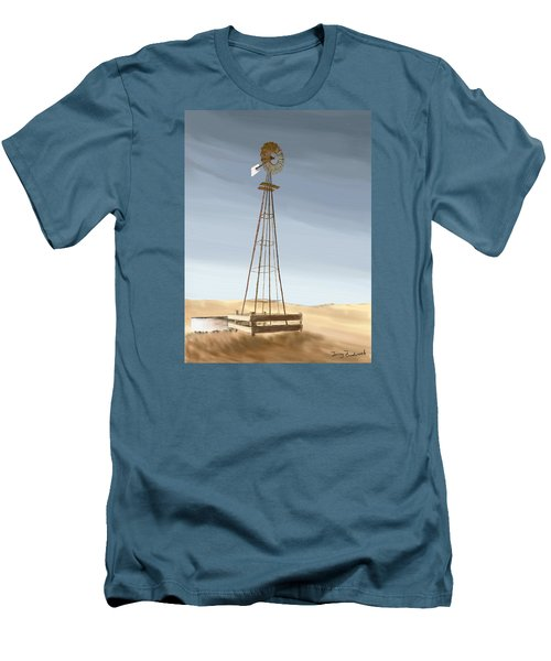 Windmill Men's T-Shirt (Slim Fit) by Terry Frederick