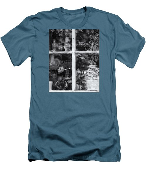 Window In Black And White Men's T-Shirt (Slim Fit) by Tom Singleton