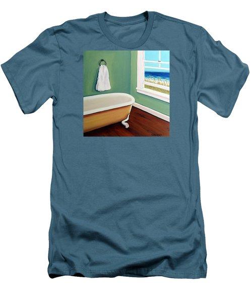 Window To The Sea No. 4 Men's T-Shirt (Slim Fit) by Rebecca Korpita