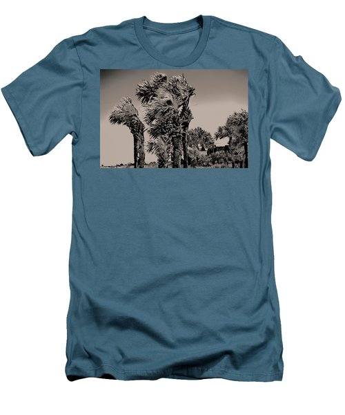 Windy Day At Beach Men's T-Shirt (Athletic Fit)
