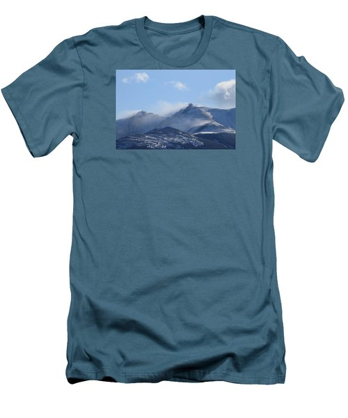 Windy Pikes Peak  Men's T-Shirt (Slim Fit) by Christopher Kirby