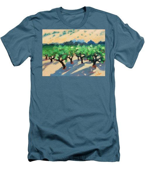 Men's T-Shirt (Slim Fit) featuring the painting Wine Habitat by Gary Coleman