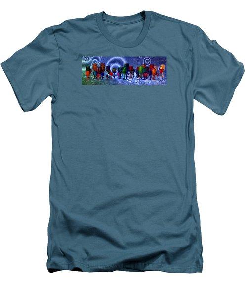 Wine  Men's T-Shirt (Athletic Fit)
