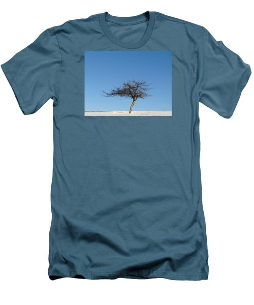 Winter At The Crabapple Tree Men's T-Shirt (Athletic Fit)