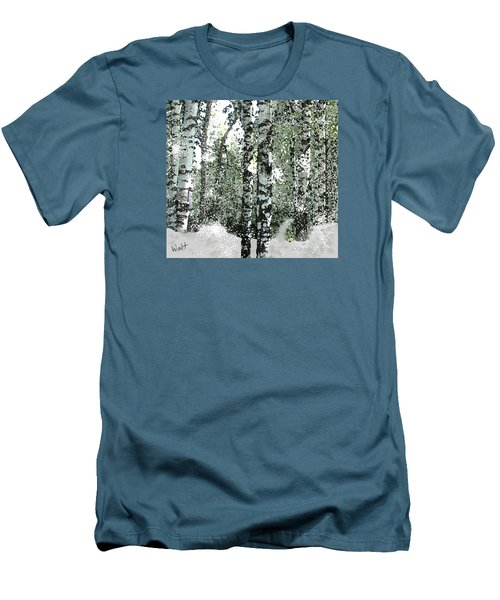 Winter Birches Men's T-Shirt (Athletic Fit)