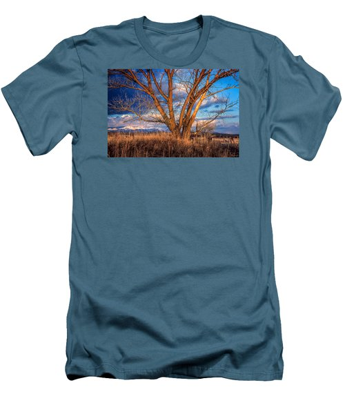 Winter Cottonwood Ranch Landscape Colorado Men's T-Shirt (Athletic Fit)