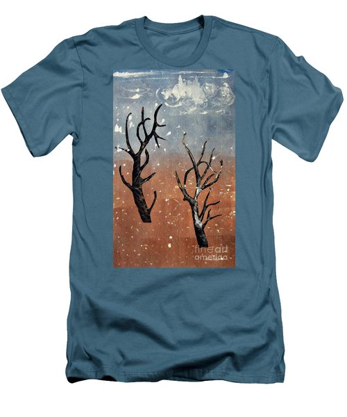 Winter Day Men's T-Shirt (Slim Fit) by Sarah Loft
