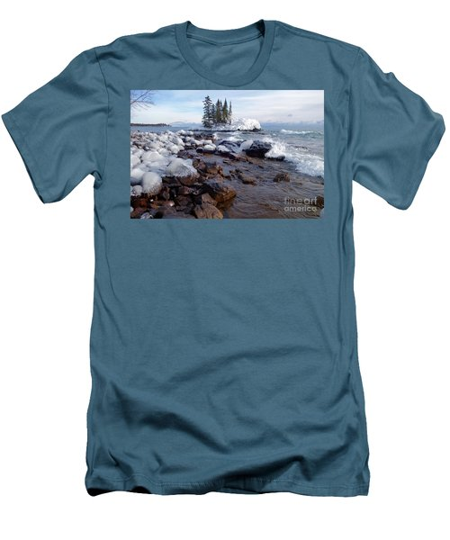 Winter Delight Men's T-Shirt (Slim Fit) by Sandra Updyke