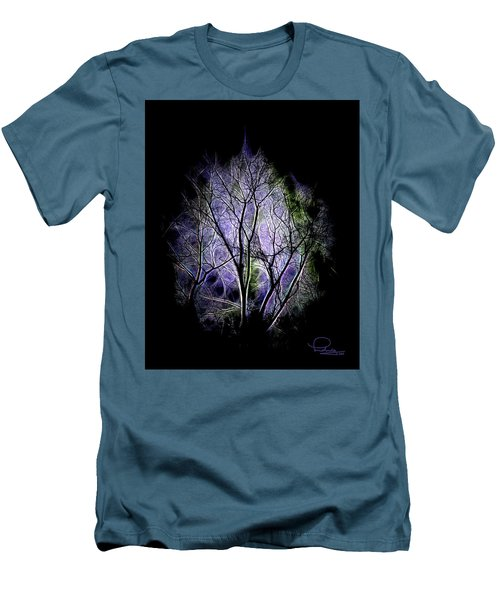 Men's T-Shirt (Slim Fit) featuring the digital art Winter Dream by Ludwig Keck