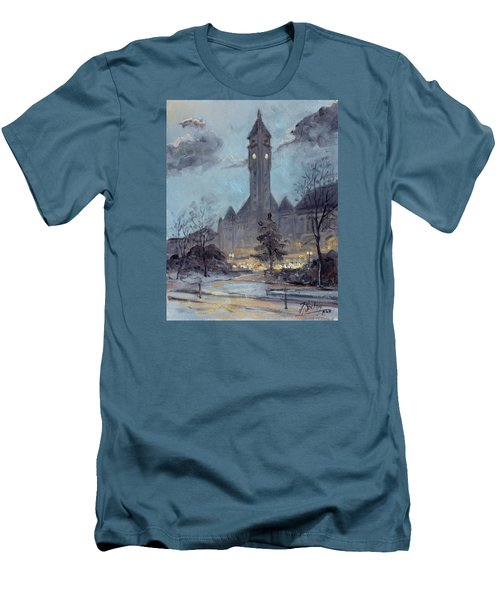 Winter Dusk - Union Station Men's T-Shirt (Athletic Fit)