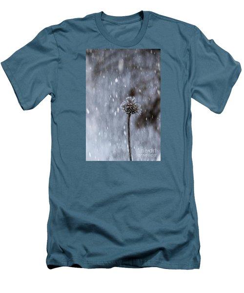 Winter Flower Men's T-Shirt (Slim Fit) by Yumi Johnson