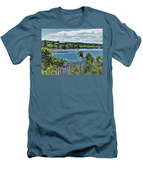 Winter Harbor Men's T-Shirt (Athletic Fit)