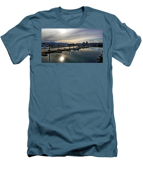 Men's T-Shirt (Slim Fit) featuring the photograph Winter Harbor Revisited #mobilephotography by Chriss Pagani