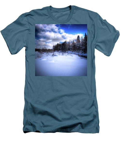 Men's T-Shirt (Slim Fit) featuring the photograph Winter Highlights by David Patterson