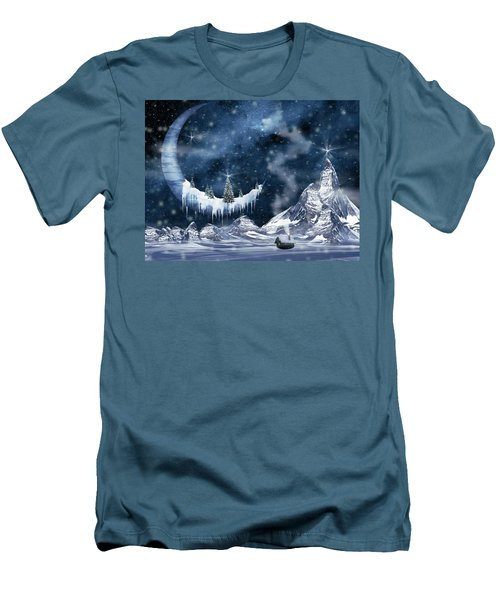 Winter Moon Men's T-Shirt (Slim Fit) by Mihaela Pater