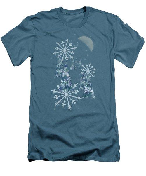 Winter Night Men's T-Shirt (Slim Fit) by AugenWerk Susann Serfezi