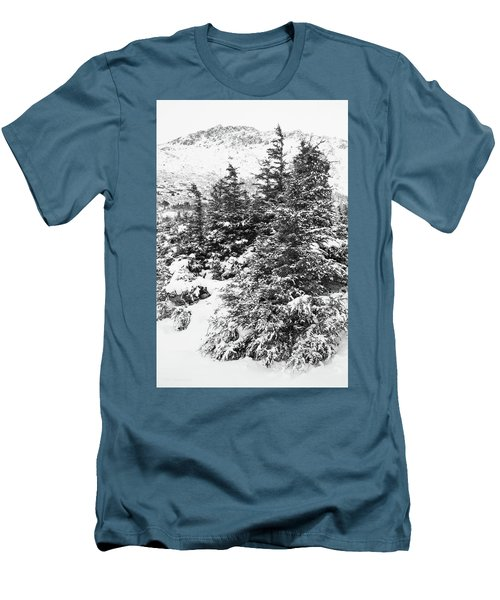 Winter Night Forest M Men's T-Shirt (Athletic Fit)