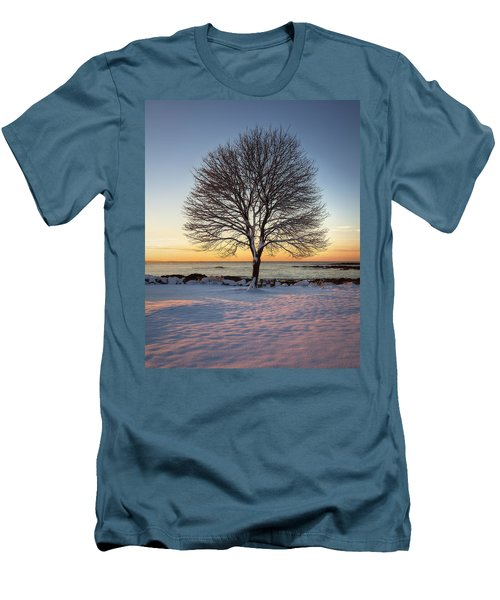 Winter On The Coast Men's T-Shirt (Athletic Fit)