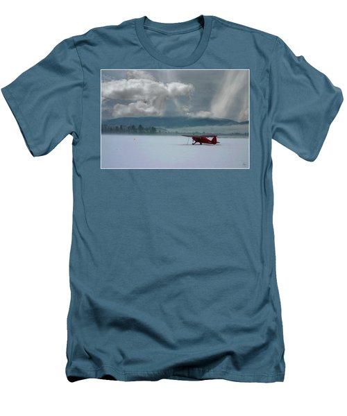 Winter Plane Men's T-Shirt (Athletic Fit)