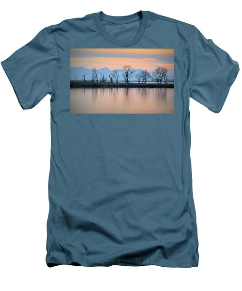 Winter Reflections Men's T-Shirt (Slim Fit) by AJ Schibig