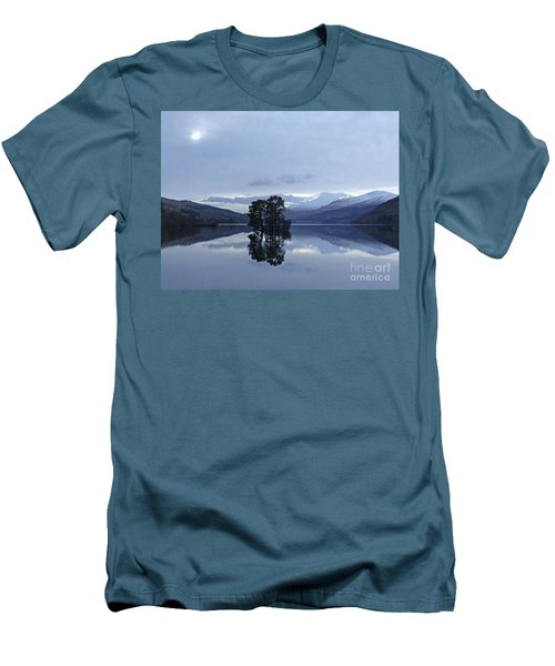 Winter Reflections - Loch Tay Men's T-Shirt (Slim Fit) by Phil Banks