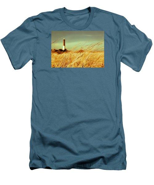 Winter Shore Breeze Men's T-Shirt (Slim Fit) by Dana DiPasquale