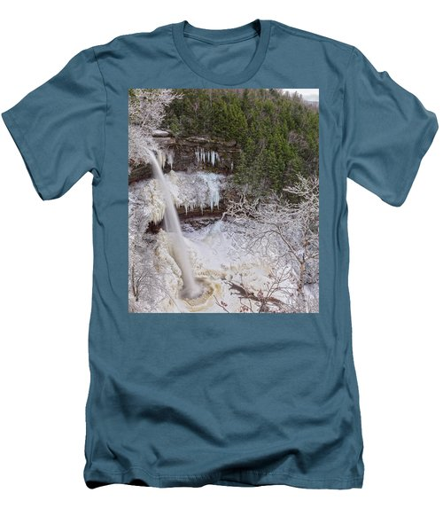 Winter Wonderland At Kaaterskill Falls Men's T-Shirt (Athletic Fit)