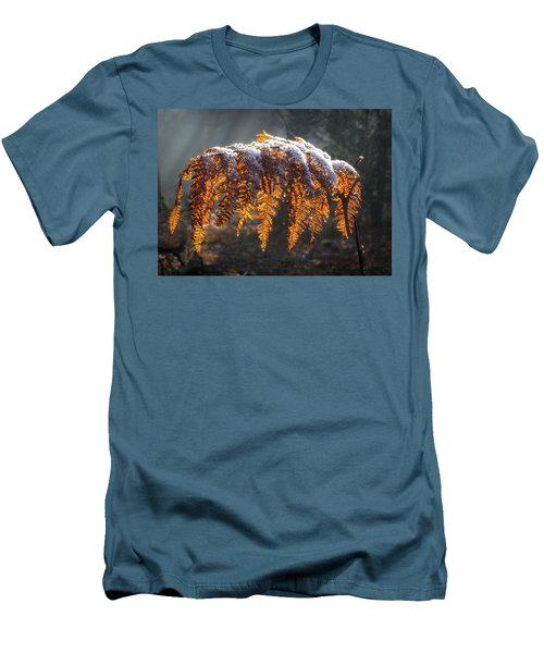 Winter Woods Men's T-Shirt (Slim Fit) by Shirley Mitchell