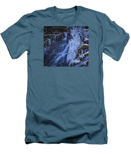 Winterfalls Men's T-Shirt (Slim Fit) by Mitch Shindelbower