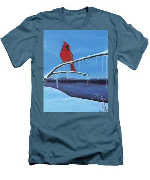 Winter's Red Men's T-Shirt (Slim Fit) by Susan DeLain