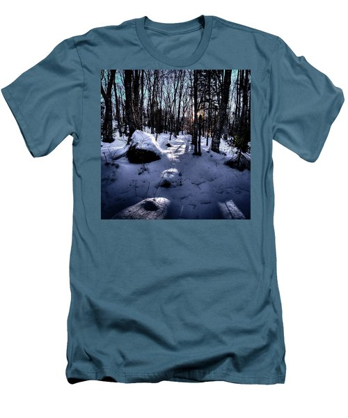Men's T-Shirt (Slim Fit) featuring the photograph Winters Shadows by David Patterson