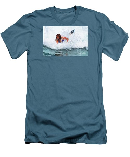 Wipeout - Painterly Men's T-Shirt (Slim Fit) by Scott Cameron