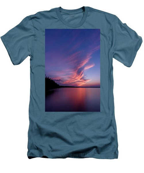 Men's T-Shirt (Slim Fit) featuring the photograph Wonderful Skeleton Lake Sunset by Darcy Michaelchuk