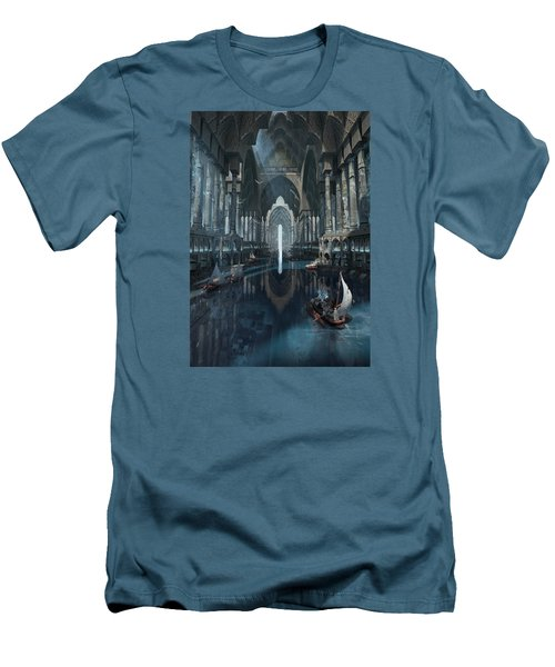 Men's T-Shirt (Slim Fit) featuring the digital art Wonders The Canal Of Isfahan by Te Hu