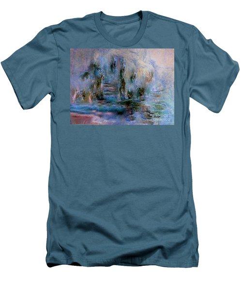 Wood Art  Lost In Time Men's T-Shirt (Slim Fit) by Sherri's Of Palm Springs